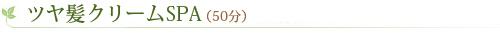 ツヤ髪クリームSPA(50分)